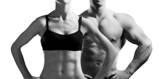 Image of a couple with low body fat physique from taking self defense classes