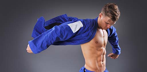 Image of a man with good physique from taking bjj madison classes